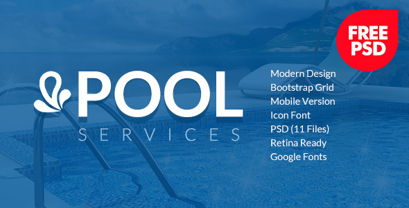 Pool Services Free Psd template image
