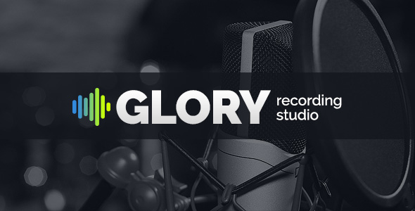 Recording Sound Studio html5 template Glory image