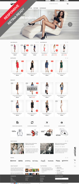 Duocart Opencart fashion store theme's banner